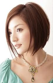 Thinking about going short again...this was the concept photo for the first time around in 2008. Except I am thinking of a more dramatic gradient from front to back (long to short) which was more what I had in 2009.   Short Hairstyle on Asian Woman