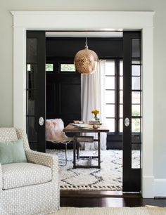 Wall color is Tricorn Black Sherwin Williams.