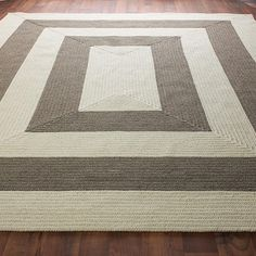Eco Friendly Concentric Stripe Braided Rug