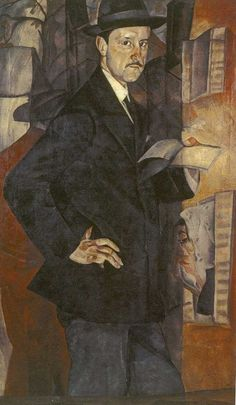 Portrait of M. Dobuzhinsky, 1917 by Boris Grigoriev (Russian, 1886 - or Dobujinsky was a Russian-Lithuanian artist noted for his cityscapes conveying the explosive growth and decay of the early twentieth-century city. Russian Painting, Russian Art, Grafic Art, Growth And Decay, Pre Raphaelite, Figurative Art, Sculpture, Drawings, Artist