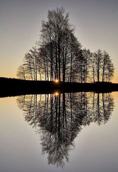 Twilight reflection ...