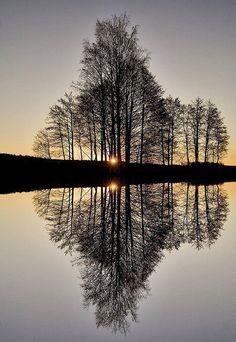 Twilight reflection ...
