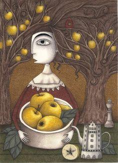 "Saatchi Art Artist Judith Clay; Drawing, ""Portrait of an Apple Orchard"" #art"