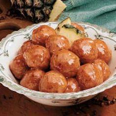 Glazed Ham Balls