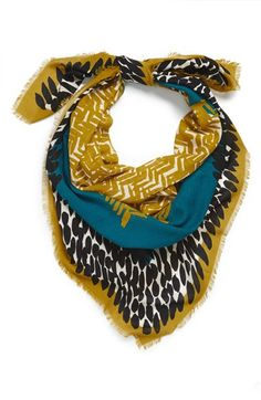 Burberry Mixed Print Wool & Modal Square Scarf available at #Nordstrom