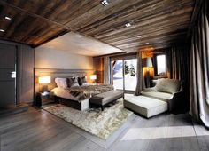 Chalet Brickell guesthouse by Pure Concept Megeve France 08 RUSTIC HOTELS! Chalet Brickell guesthouse by Pure Concept, Megève France Modern Rustic Bedrooms, Rustic Bedroom Design, Bedroom Decor, Bedroom Designs, Bedroom Ideas, Cozy Bedroom, Woodsy Bedroom, Bedroom Headboards, Bedroom Photos