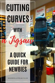 Do you want to know more about cutting perfect curves with a jigsaw? Then check out this quick guide for newbies that will teach you how get great results every time! #jigsawcuttingcurves #woodworkingpowertoolstips #diypowertoolstips Woodworking Power Tools, Beginner Woodworking Projects, Diy Woodworking, Power Sander, Perfect Curves, Wood Working For Beginners, Hacks Diy, Diy On A Budget, Things To Know