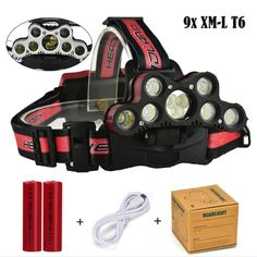 Lights & Lighting New High Quality 40000 Lm 7x Xml T6 Led Rechargeable Headlamp Headlight Travel Head Torch Drop Shipping Aesthetic Appearance Portable Lighting