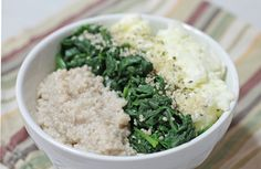 Steamed Spinach & Egg White Oatmeal