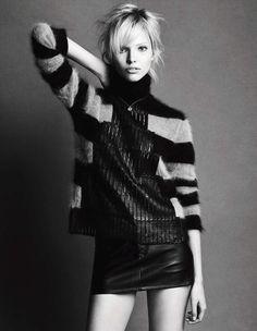 visual optimism; fashion editorials, shows, campaigns & more!: sasha luss by luigi & iango for vogue germany december 2014