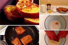 Une recette qui dépanne quand on a la flemme de faire à manger. Ce dont vous aurez besoin : – 1 grand verre de lait – 1 oeuf – Un peu d'arôme de vanille – quelques tranches de pain – 10 gr de sucre semoule Tuto réalisé parFastGoodCuisine