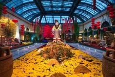 The Conservatory and Botanical Gardens at the Bellagio are completely redone five times a year.