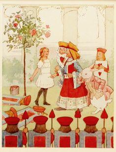 Queen Arrives - Alice in Wonderland - Margaret Tarrant