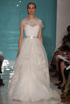Reem-Acra-Wedding-Gown-2013 - Read more on One Fab Day: http://onefabday.com/reem-acra-2013-bridal/