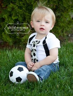 Soccer Black and White Sports Boy Tie Onesie or by shopantsypants, $18.00