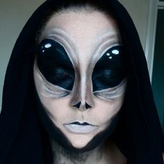 alien makeup for halloween #alien #happyhalloween #halloween #halloween2016…