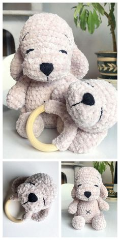 Knitting Patterns Free Dog, Crochet Teddy Bear Pattern, Crochet Baby Toys, Crochet Amigurumi Free Patterns, Crochet Animal Patterns, Cute Crochet, Crochet Animals, Crochet Crafts, Crochet Dolls