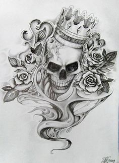 tattoo - skull by ~aqata16 on deviantART