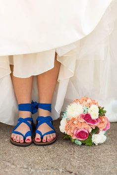 Sseko wedding sandals- $55 for cotton, $60 for chiffon. 15% off for order of 5+ pairs