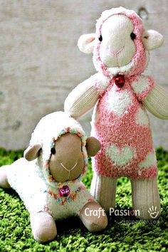 Sock Sheep - free pattern and photo instructions