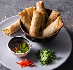 Peanut Sauce Recipe, Sauce Recipes, Rice Paper Wrappers, Vegetable Spring Rolls, Chili Garlic Sauce, English Cucumber, Fresh Mint Leaves, Creamy Peanut Butter, Kitchens