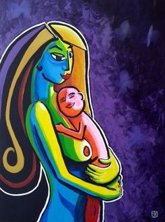 Just finished this abstract acrylic painting on canvas x of mother and child. Strong composition in bold colors with light reflection. The item has been entered in the Saatchi Showdown: The Body Electric. Mother And Child Reunion, Specialist Paint, Mother And Child Painting, Body Electric, Selling Art Online, Light Reflection, Poster On, Mothers Love, Acrylic Painting Canvas