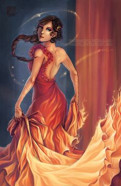 Katniss Everdeen: Radiant as the Sun by *fictograph on deviantART THE DRESS AND TATTOOS IN THE BOOK