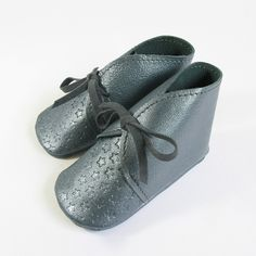 Little Star Leather Slippers - Elephant