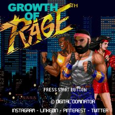 Title screen from the iconic game Streets Of Rage on the SEGA Megadrive and Genesis from Beautiful graphics, stunning music and gameplay to match. A True Retro classic! Game Boy, Super Nintendo, Mortal Kombat, Heavy Metal, Rage Game, Kali Linux, Gamer News, Xbox News, Master System