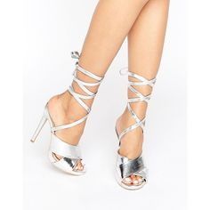 Truffle Tie Ankle Rita Heeled Sandals ($28) ❤ liked on Polyvore featuring shoes, sandals, red, ankle wrap sandals, high heeled footwear, high heel sandals, red peep toe shoes and ankle strap heel sandals