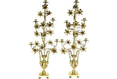 Tall Antique French Candelabra, Pair $995