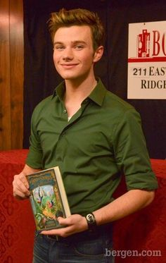 Chris Colfer at book signing