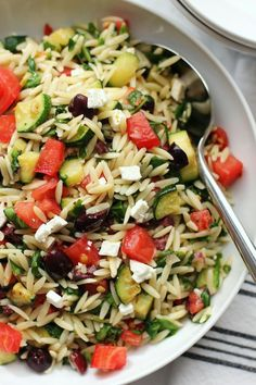 Mediterranean Orzo Salad Recipe All Recipes UK. Roasted Vegetable And Orzo Pasta Salad With Basil Pine . Nigella Lawson's Meatballs With Orzo. Vegetarian Recipes, Cooking Recipes, Healthy Recipes, Bread Recipes, Cooking Tips, Orzo Salad Recipes, Mediterranean Diet Recipes, Nutrition, Cookies Et Biscuits