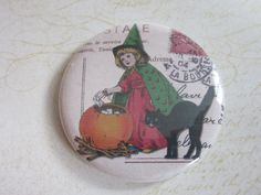 Miroir de sac, miroir de poche, accessoire, sac à main, beauté, mode,Halloween 3   http://romantic-garden.fr/