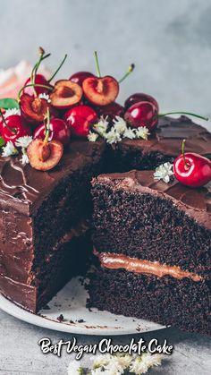 Best Vegan Chocolate, Baking Chocolate, Chocolate Recipes, Chocolate Cake, Tasty Videos, Food Videos, Vegan Dessert Recipes, Baking Recipes, Buzzfeed Tasty
