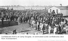 The Library of Congress has no photographs or drawings listed for Rock Island (IL) Prison, and none for Confederate POW prisons. Andersonville and other prisons in the South abound. Six thousand Confederates died from mistreatment - starvation and exposure - at Camp Douglas. Here are some of the men held there.