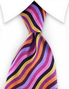 Personalized Pace Maroon Signature Stripe Tie with Embroidered Monogram