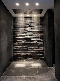 Slate shower Not sure about you but this is what my dreams are made of... Interior, design, slate, natural, shower, wet room, country home, farmhouse,cottage