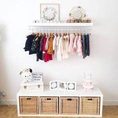 nursery Ikea Kallax Nursery, Ikea Expedit, Deer Nursery, Girl Nursery, Remodeling Mobile Homes, Home Remodeling, Ikea France, Diy Clothes Rack, Nursery Inspiration