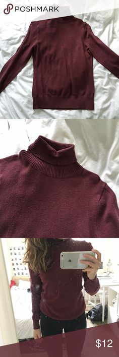 Merona Red Turtleneck Barely worn • tag says M, I am a size S girl for reference • room for some wiggle in size S girls, tighter fit for M girls • NOT Madewell, just for exposure Madewell Sweaters Cowl & Turtlenecks