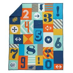 Alphabet Print Kids Bedding | The Land of Nod