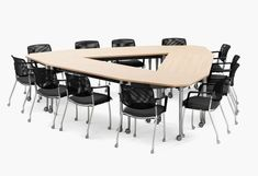 Create the perfect collaborative classroom layout with flexible Kite tables from Muzo! Table Legs, A Table, 21st Century Classroom, Office 2020, Classroom Layout, School Furniture, Commercial Furniture, Smart Design, Kite