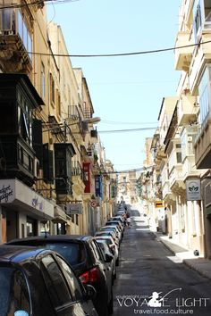 The narrow side streets