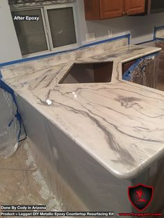 Another first time user of our #products and it looks #amazing #countertop #resurfacing made easy get your kit today www.leggari.com #kitchen #kitchendesign #kitchenremodel #countertops #coatings #epoxy #metallicepoxy #countertoprefinishing