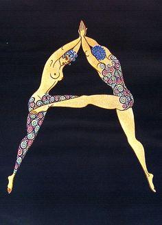 The Letter A - Erté (Romain de Tertoff) Art Deco poster design!