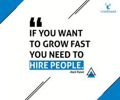 If you want to grow fast, you need to Hire People. Online Marketing, Social Media Marketing, Digital Marketing, Business Tips, Online Business, Wednesday Motivation, Wednesday Wisdom, Entrepreneurship, Mindset