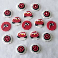 Cars Edible cupcake toppers by cakeorationstore on Etsy, $20.00