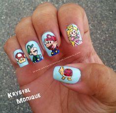 Super Mario Bros Nails characters!!!