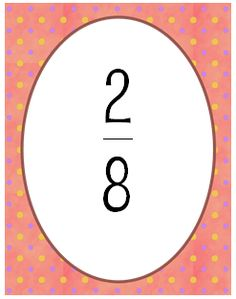 Math Coachs Corner: Fun with Fractions! Colorful fraction cards with instructions for four activities: Fraction War, Equivalent Fraction Memory, 0 1/2 and 1 Sort, Simplest Form.  Includes fraction strips with a number line to anchor benchmarks.