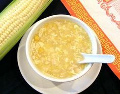 Chinese Corn Soup Recipe Ingredients Chicken broth (You may use 2 large Campbell's tetra packs or homemade) 1 large can cream corn (or 1 cup corn – see note in directions) 1 small pkg crab / pollock (Corn Soup Recipes) Amish Recipes, Cooking Recipes, Cooking Food, Healthy Cooking, Dutch Recipes, Easy Recipes, Chinese Corn Soup, Chinese Food, Chinese Style